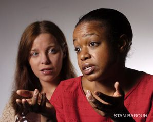 Brooklyn and Beyond: Laura Heisler and Quincy Tyler Bernstine appear in David Adjmi's upcoming play, 'Stunning.'