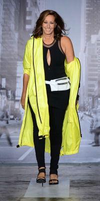Donna Karan at her DKNY show at Fashion Week.