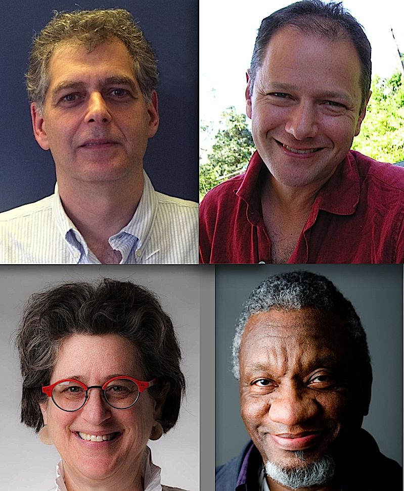 Inaugural Academy Fellows: Clockwise from top left, David Karnovsky, David Herskovits, Donald Byrd and Lynne Avadenka.