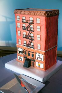 Cake in the shape of 97 Orchard Street