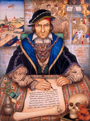 Unpacking a Painting: ?The Scribe? is one the most symbolic and complicated paintings to come out of Arthur Szyk?s Paris period.