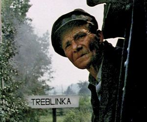 Never Look Back: Passing Treblinka on the train, a still from ?Shoah.?