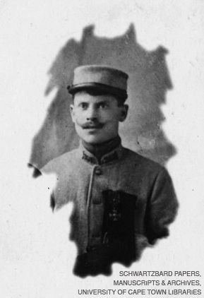 ANARCHIST AND PATRIOT: Sholom Schwartzbard, the Ukrainian-born radical who shot Symon Petliura in Paris, seen in his World War I French army uniform with Croix de Guerre on his chest.