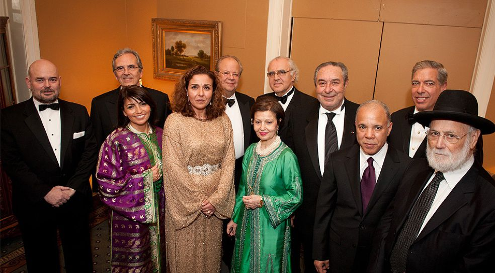 Some honored attendees included (left to right): The Honorable Fernando Villalonga, Consul General, Consulate General of Spain in New York; Mr. Carlos Benaim; Leon Levy Leadership Award Recipient; Dany Devico Moyal; Dinner Committee Chair; Wassane Zailachi, Deputy Chief of Mission - Embassy of the Kingdom of Morocco in Washington, D.C.; David E.R. Dangoor, ASF President; Florence Amzallag Tatistcheff; Leon Levy Leadership Award Recipient, ASF Board of Directors; Norman S. Benzaquen; Leon Levy Leadership Award Recipient; The Hon. Serge Berdugo; Ambassador at Large of H.M. the King of Morocco; The Hon. Mohamed Karmoune, Consul General, Kingdom of Morocco Consulate General in New York; The Hon. Marc C. Ginsberg, former Ambassador to Morocco; Rabbi David Messas, Chief Rabbi of Paris