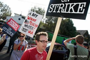 OFF SCRIPT: Hollywood scribes picket this week as part of a Writers Guild of America strike over the distribution of profits from new media sales