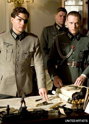 REBELS: Tom Cruise (left) leads other Nazi officers in a plot to kill Hitler in the film ?Valkyrie.? The descendants of one officer who got away are Jewish.