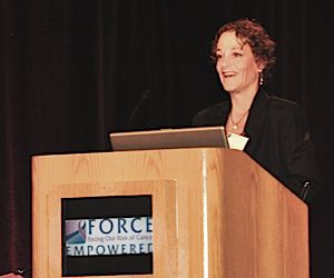 Sue Friedman: The founder of FORCE speaks at its annual meeting supporting those with BRCA mutations.