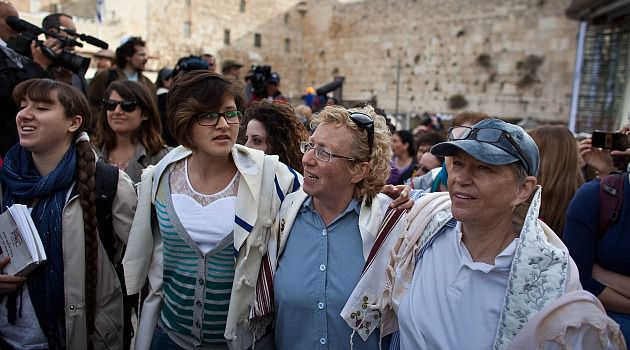 Wall Fight: Women wear prayer shawls at the Western Wall in Jerusalem. Despite the compromise plan proposed for the holy site, confrontations are likely to continue for now.