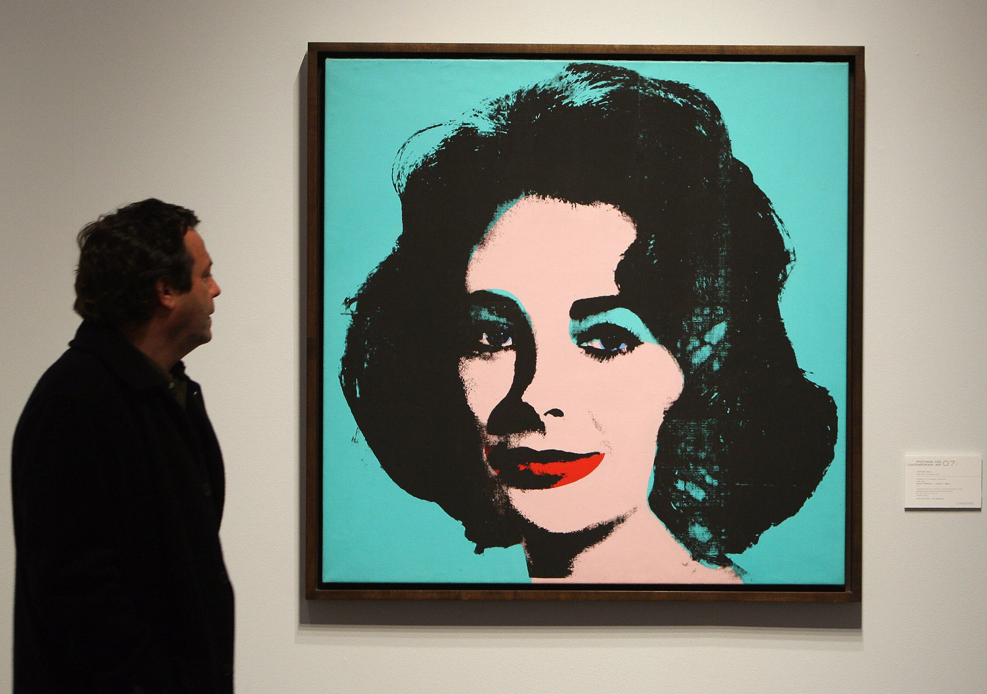 """Beauty in Chicago: Andy Warhol's """"Liz"""" (1963) was part of Stefan Edlis' donation to the Art Institute of Chicago."""